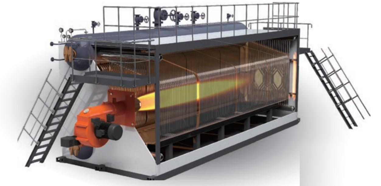 蒸汽锅炉-燃油(燃气)SZS系列全自动饱和蒸汽锅炉